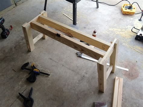 how to make a farmhouse bench ana white benchwright farmhouse table and bench diy