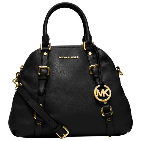 michael michael kors bedford leather bowling bag  black