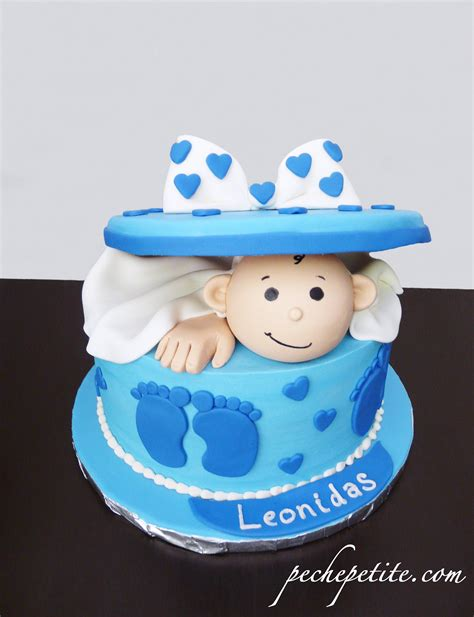 Baby Boy Shower Cake Designs by Baby Boy Shower Cakes Peche