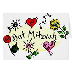 bat mitzvah lights greeting cards images frompo