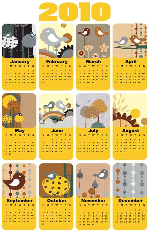 Material Design Vorlage 2010 Kalender Vorlage Vektor Free Vector Psd Flash Jpg Www Fordesigner