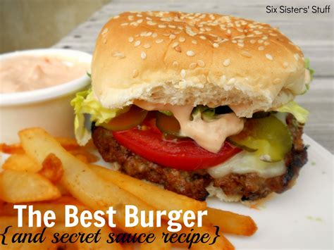 cheeseburger recipe the best hamburger recipe and amazing secret sauce six