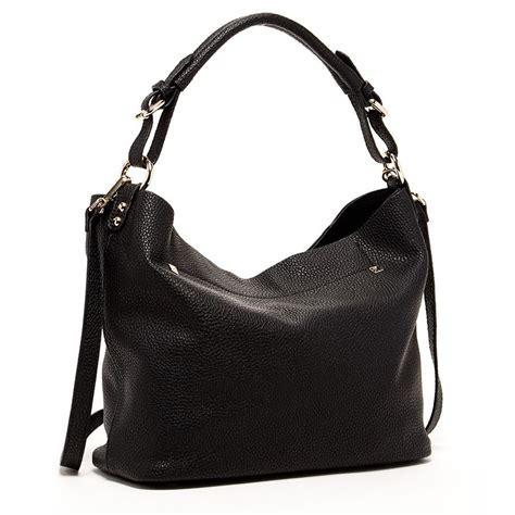 New Arrival Fossil Cross 1715 leather hobo bag with crossbody black handbags