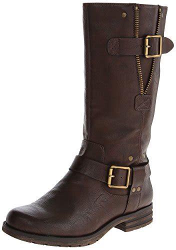 womens brown motorcycle boots naturalizer women s ballona motorcycle boot dark brown 8 5