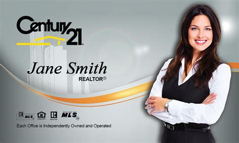 Century 21 Gift Card - century 21 real estate broker business card design 102161