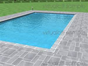 square swimming pool 3d composited architectural render of swimming pool rectangular