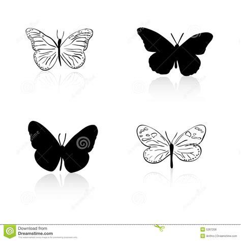 imagenes de mariposas siluetas la silueta de la mariposa y alinea a fotos de archivo