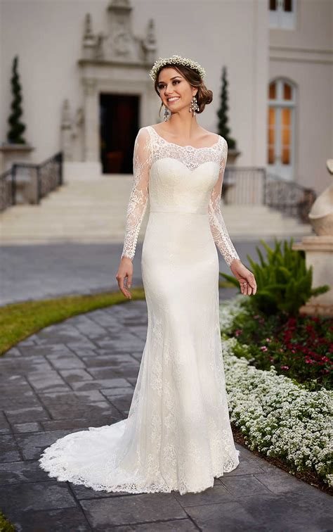traditional wedding dress  lace satin stella york