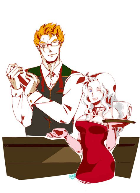 tonight s bartender laxus and waitress mirajane by