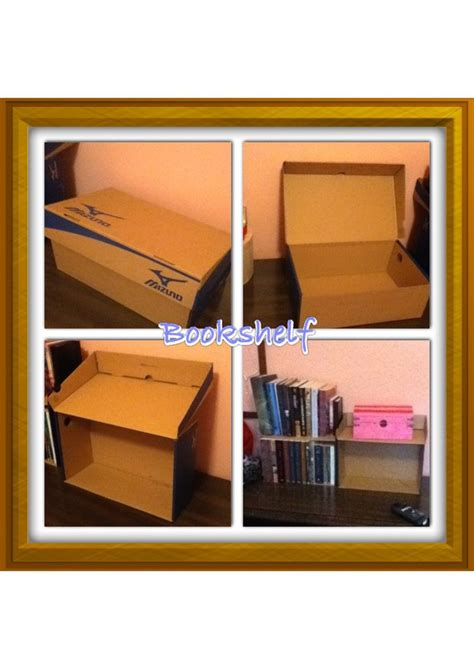 how to make a bookshelf out of a shoebox 1 open the box 2