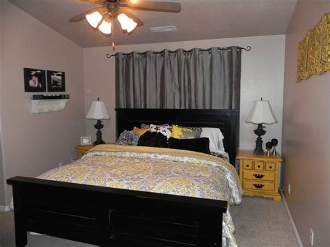 gray master bedroom yellow and gray master bedroom by chelsea feature friday