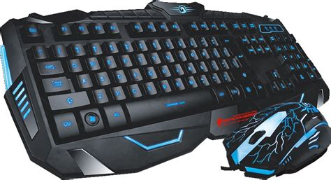 Keyboard Mouse Gaming Combo Marvo Km800 marvo scorpion black light wired gaming keyboard and mouse