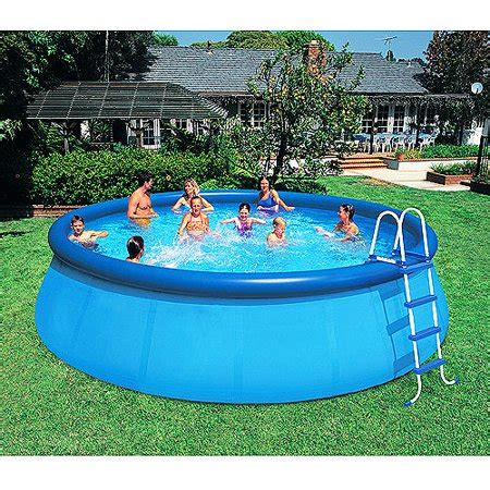 Gamis Syar I Lamina Blue intex 18 x 48 quot easy set above ground swimming pool