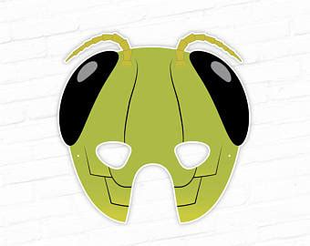 printable grasshopper mask halloween mask clown printable mask happy clown circus