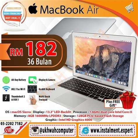 Apple Macbook Air Malaysia apple macbook air 13 inch harga ans end 4 25 2017 11 15 am