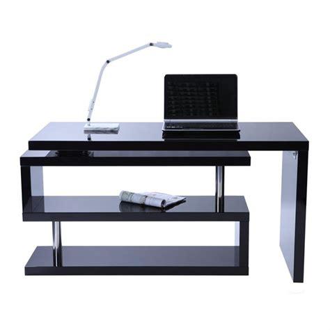 Bureau Design Noir Laqu 233 Amovible Max Achat Vente Bureau Laqu Noir