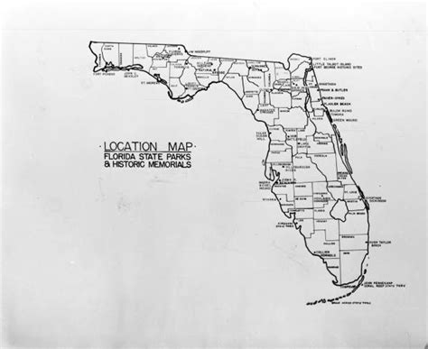 florida state parks map florida memory map of florida state parks and historic markers