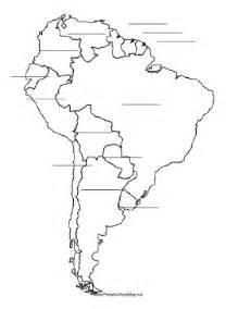 blank maps of central and south america