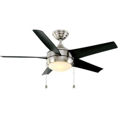 Black Bedroom Ceiling Fans Home Decorators Collection Windward 44 In Indoor Brushed
