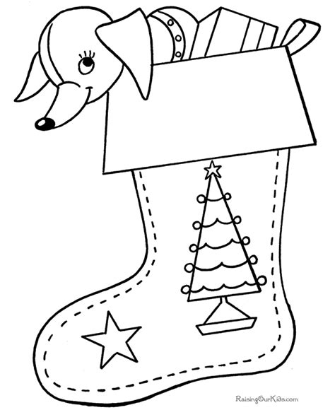 free printable coloring pages christmas stockings printable christmas stocking coloring pages 003