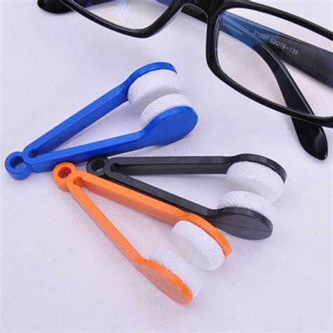 Pembersih Contact Lens Sunglasses Glasses Eyeglasses Microfiber Brush Cleaner