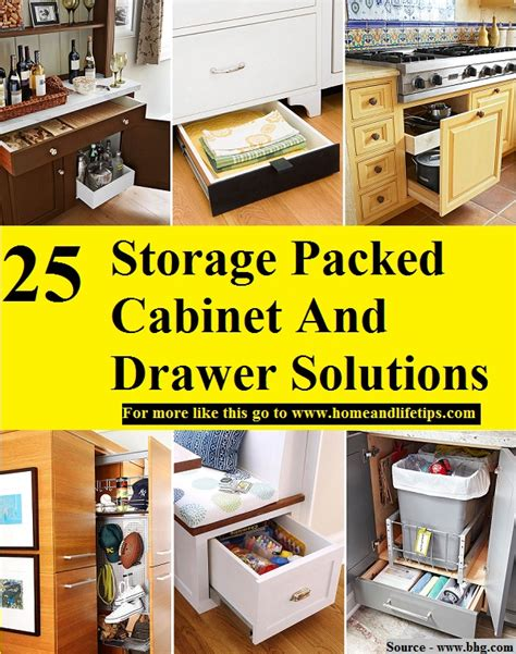 Drawer Solutions by 25 Storage Packed Cabinet And Drawer Solutions Home And