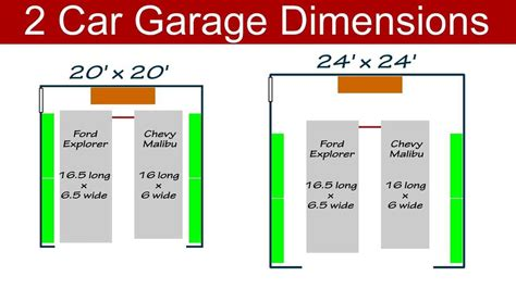 Standard Car Garage Size by Types Of Garage Door Sizes House Design