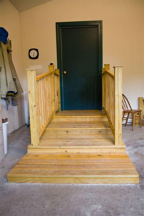 garage platform stairs garage stairs  railings