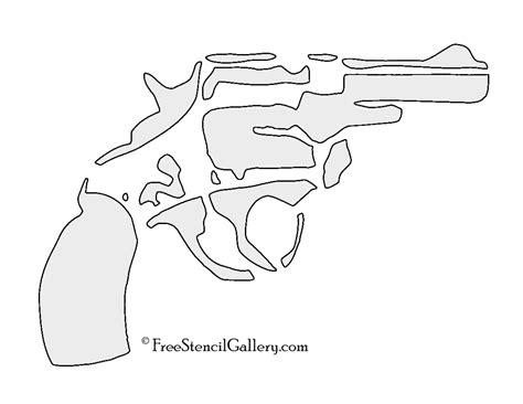 printable gun stencils handgun stencil free stencil gallery