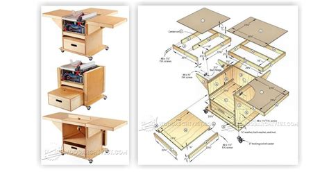 table saw and router workstation plans woodarchivist