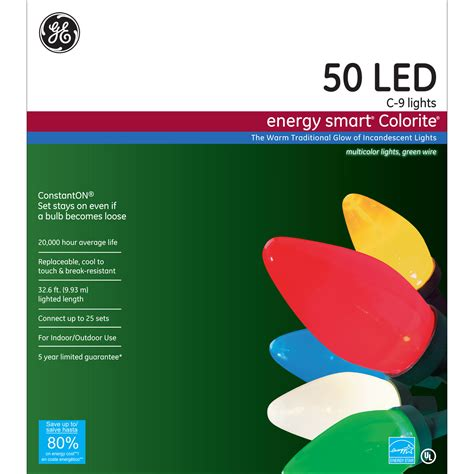 ge energy smart led lights ge appliances energy smart 174 50ct led colorite 174 c9