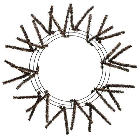 brown tinsel 15 24 quot tinsel work wreath form metallic brown xx751140