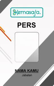 design name tag panitia id card press white desain id card kemasaja