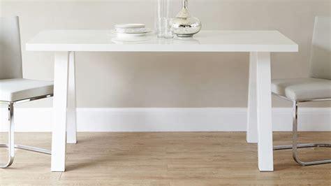 Modern Zen 6 Seater White Gloss And Oak Dining Table Uk Gloss White Dining Table