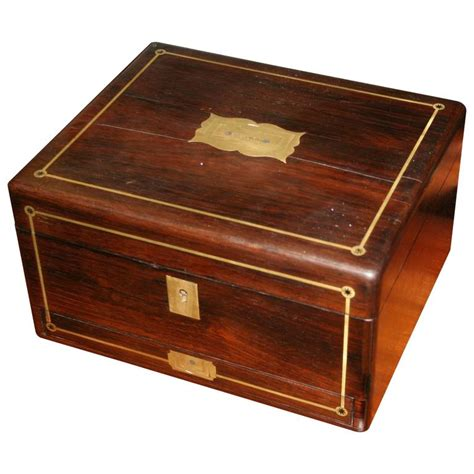 Secret Drawer Box by Regency Rosewood And Brass Writing Box With Secret Drawer For Sale At 1stdibs