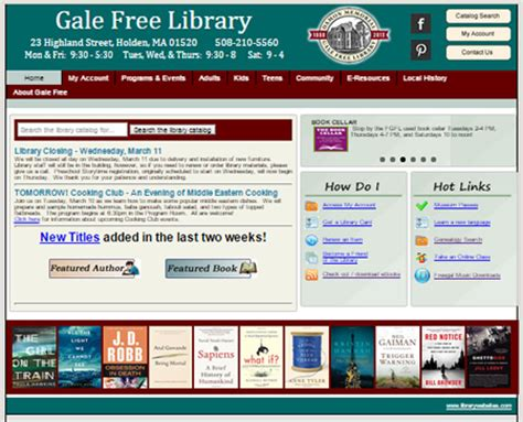 website templates for library management system library websites from piper mountain webs public library
