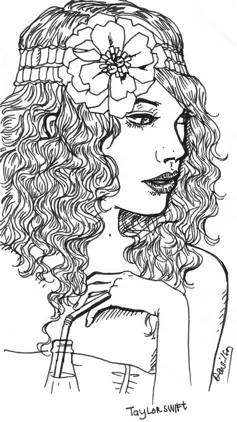 with curly hair coloring page free printable coloring pages 25 taylor swift coloring pages coloringstar
