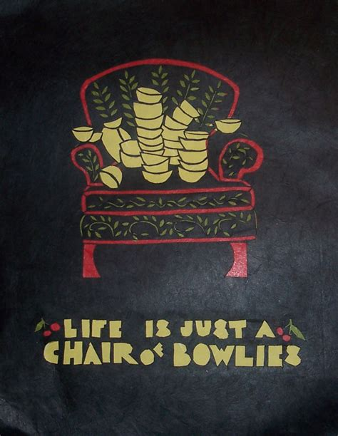 paper cutting is just a chair of bowlies by