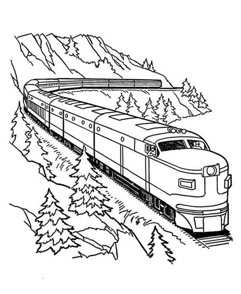 coloring page bullet train train coloring pages for free download