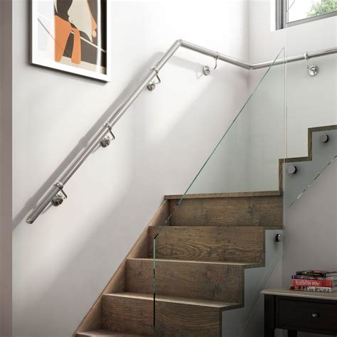 Metal Wall Mounted Stair Handrail Best 25 Metal Handrails Ideas On Metal