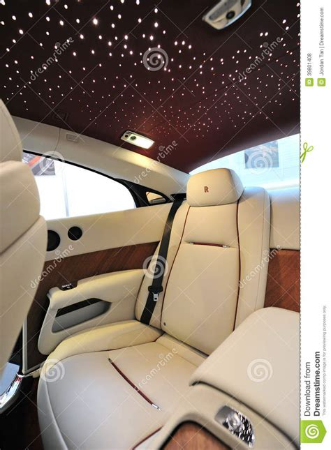 roll royce star rear leather seats with star ceiling of the rolls royce