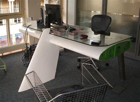 deborah recycled airplane wing desk by reestore