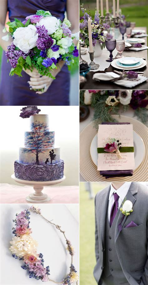5 fabulous shade of purple wedding color ideas