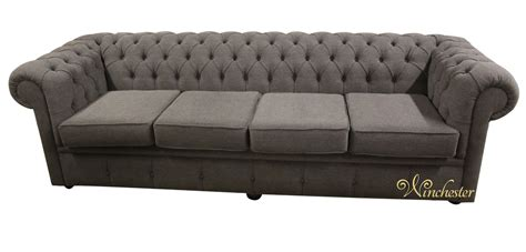 fabric settee chesterfield 4 seater settee verity steel grey fabric wc png