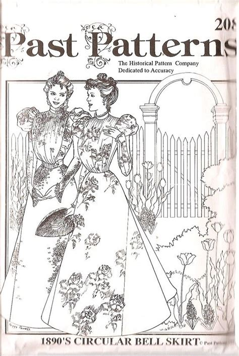 sewing pattern victorian skirt victorian circular bell skirt 1890 s fashion sewing