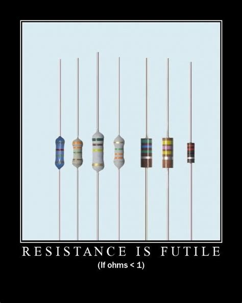 ohm resistor joke current events resistance is futile updated cyberchalky