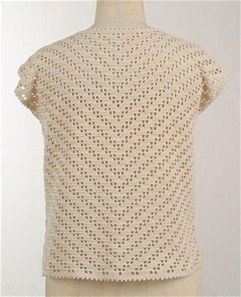 Pinterest Filet Crochet Blouses   crochet filet top with diagram there are plenty of