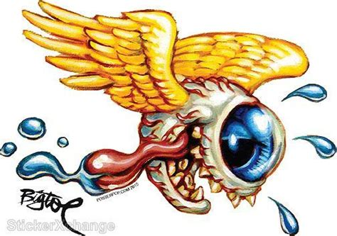 flying eye fink sticker decal big toe bt27r right facing