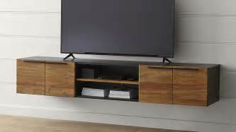 In Wall Entertainment Cabinet Rigby 80 5 Quot Large Floating Media Console Crate And Barrel