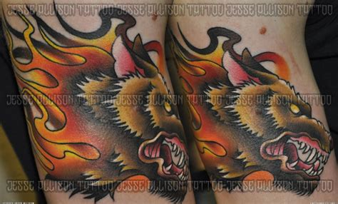 traditional wolf tattoo designs traditional wolf design